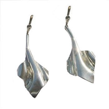 Zilveren oorknoppen - oorhangers